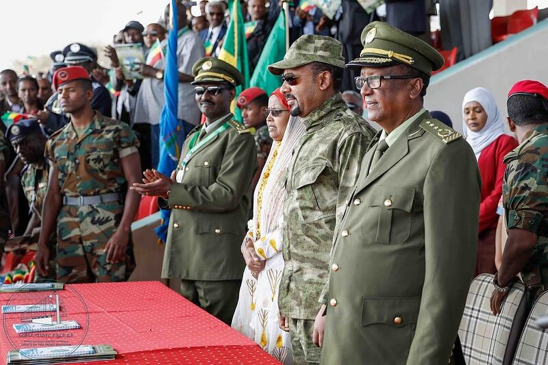 Abiy Ahmed and military leaders