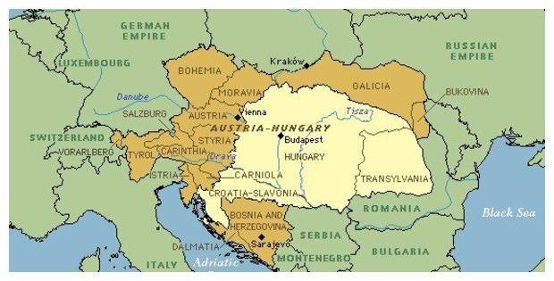 Galicia Eastern Europe Map 1900