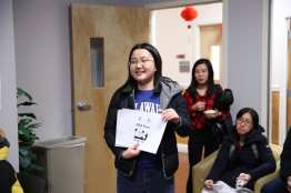 Learning Chinese phrases at the ELI Spring Festival Celebration 2018