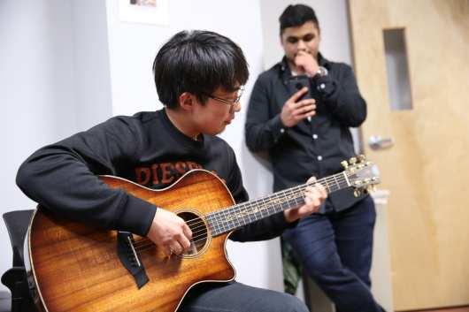 Sharing music at the ELI Spring Festival Celebration 2018
