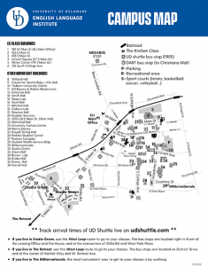 University Of Delaware Map : university, delaware, Session, Student, Orientation, Schedule, English, Language, Institute