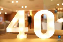 All events, including this one in Shanghai, were had themed decorations celebrating our 40th anniversary.