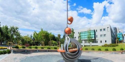 Professor's Arabic calligraphy inspires Turkish university's sculpture