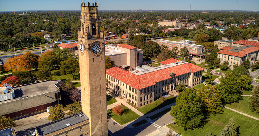 Campus view from the sky