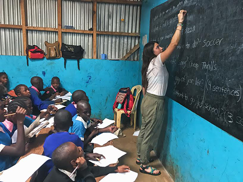 Sarah Hirschmann taught in Kenya one summer.