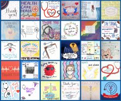 The virtual quilt made with student drawings