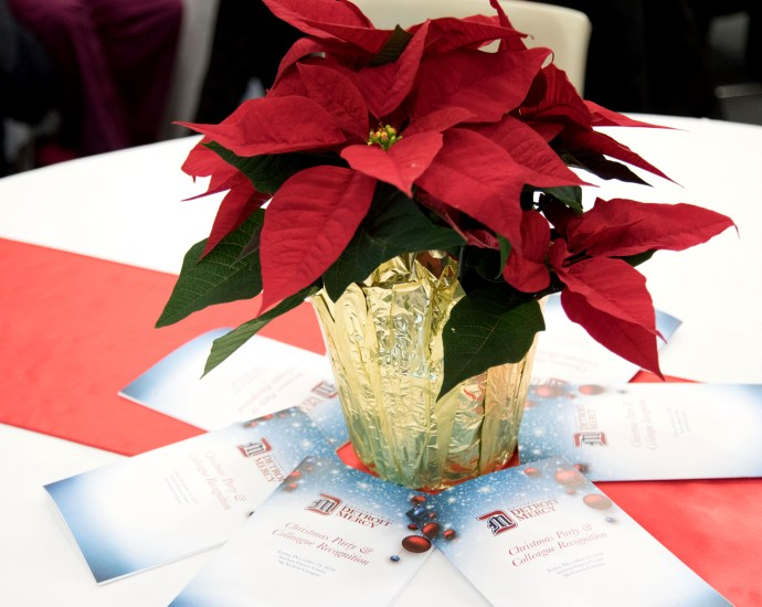 Joy and laughter fill the air at the Employee Christmas party