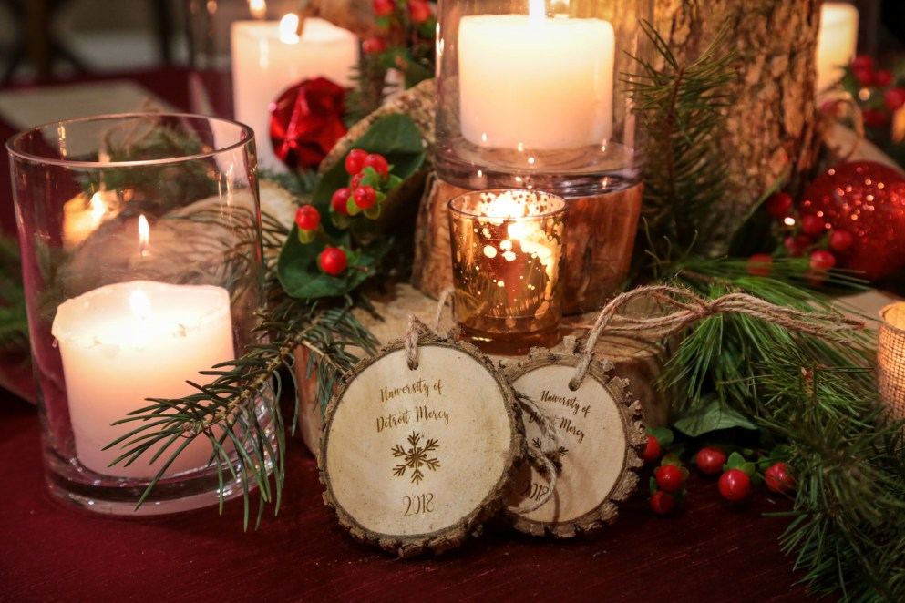 President's Christmas Party table giveaways