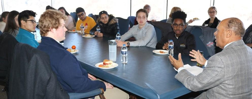 Freshman Luncheon with Dr. Garibaldi 2019