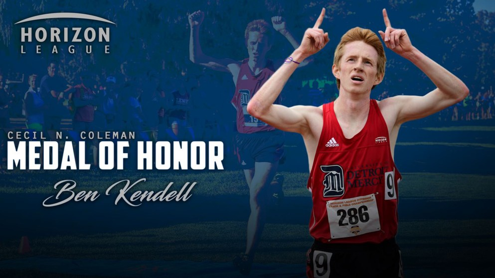 Ben Kendell was named the winner of the Horizon League's 2019 Cecil N. Coleman Medal of Honor.