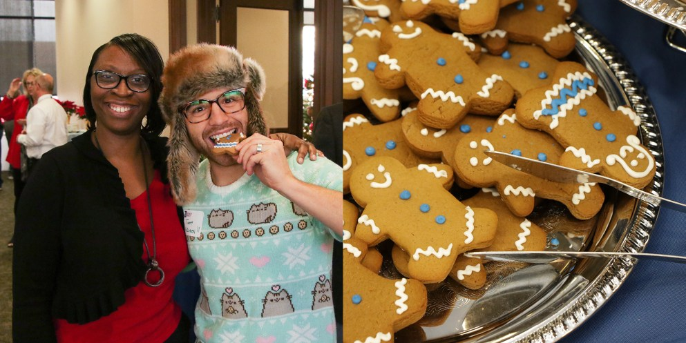 Timmy Nelson enjoying some delicious gingerbread cookies!