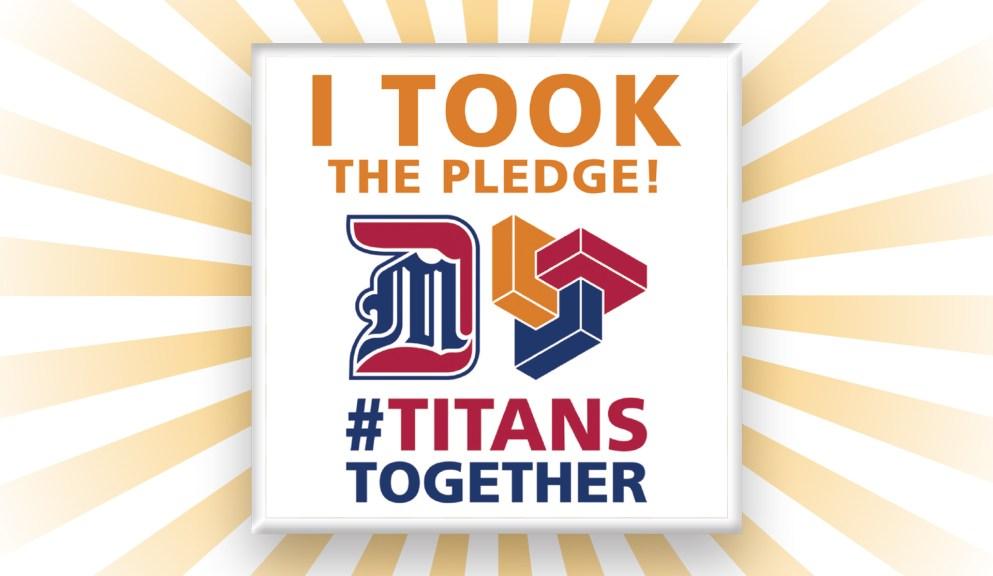 Titans Together Pledge Pin