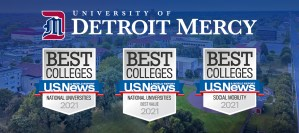 Detroit Mercy 2021 badge rankings courtesy of U.S. News & World Report