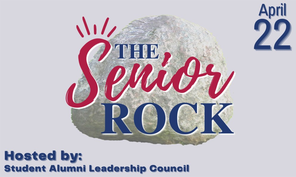 Senior Send-off graphic of the Senior Rock.