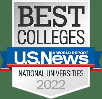 Best Colleges U.S. News & World Report National Universities 2022 badge