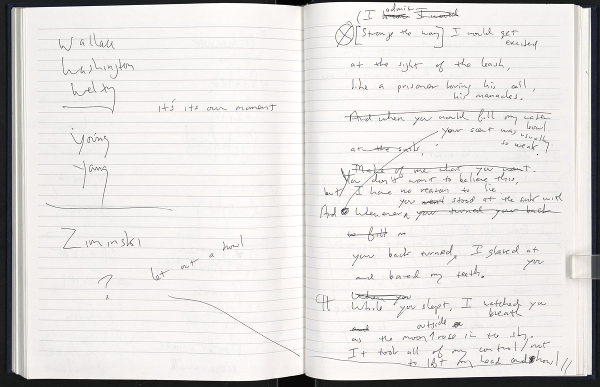Notebooks illuminate creative process behind Billy Collins