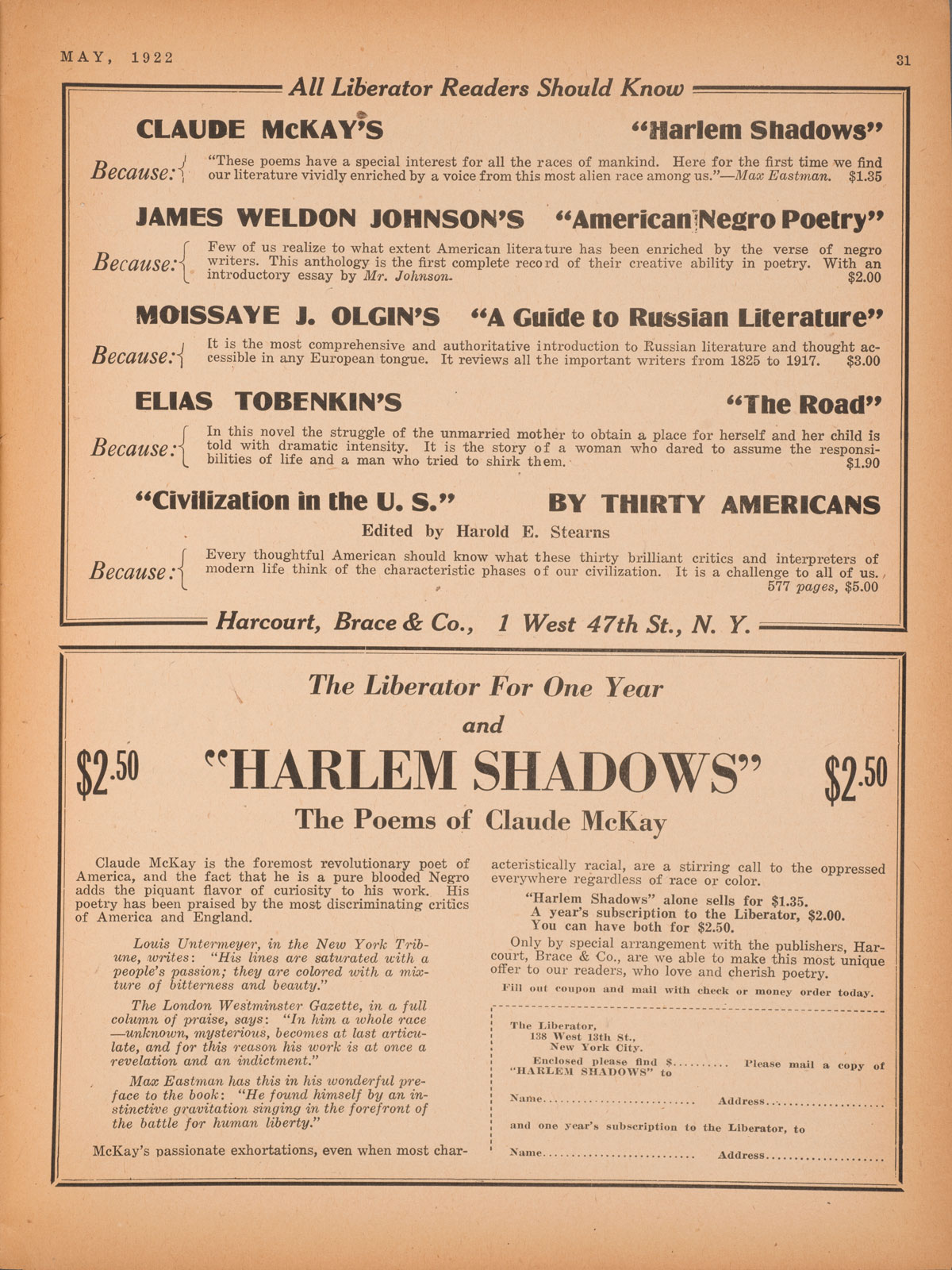 Claude Mckay And The White House