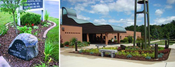 church landscaping macomb county