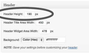 Prose Design Settings: Header Height