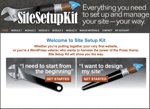 Site Setup Kit Welcome Page