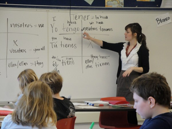 Spanish Teacher Teaching Students