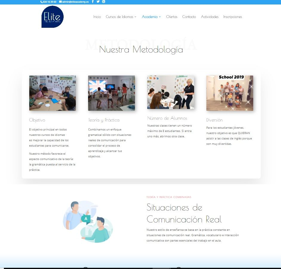 Elite Academy metodologia website development