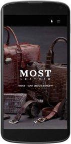 Мобильная версия сайта MOST - кожа из Швейцарии - mostleather.com