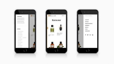 Создание мобильной версии сайта Aroma-teka.ru - концептуальная парфюмерия
