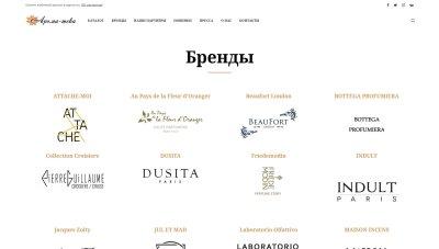 Создание сайта Aroma-teka.ru - концептуальная парфюмерия