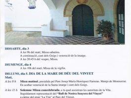 Festa de la Mare de Déu del Vinyet Sitges 2019