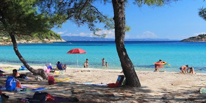 Lagonisi beach  Sithonia Greece