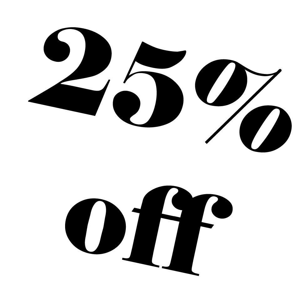 25% OFF on All Orders from Recent Showcases. 1 Day Only