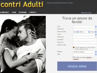 Home page del sito di incontri IncontriAdulti.info