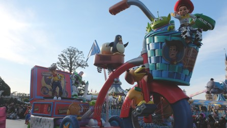 Toy Story gang on a giant tricycle!