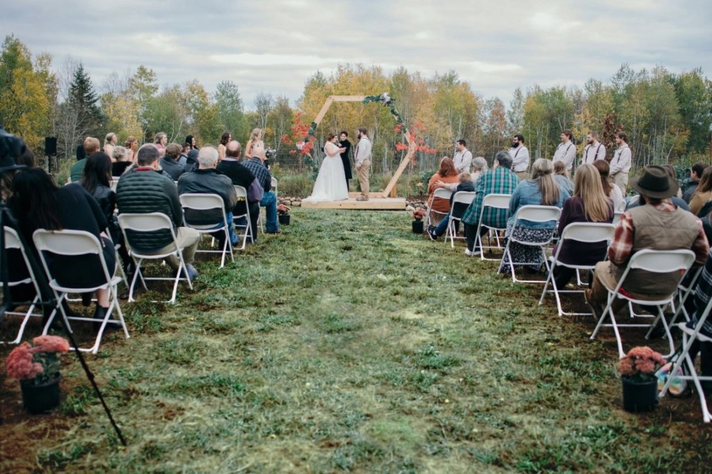Vineyard View at Sitio Weddings + Events - A wedding and event venue just south of Duluth, MN.