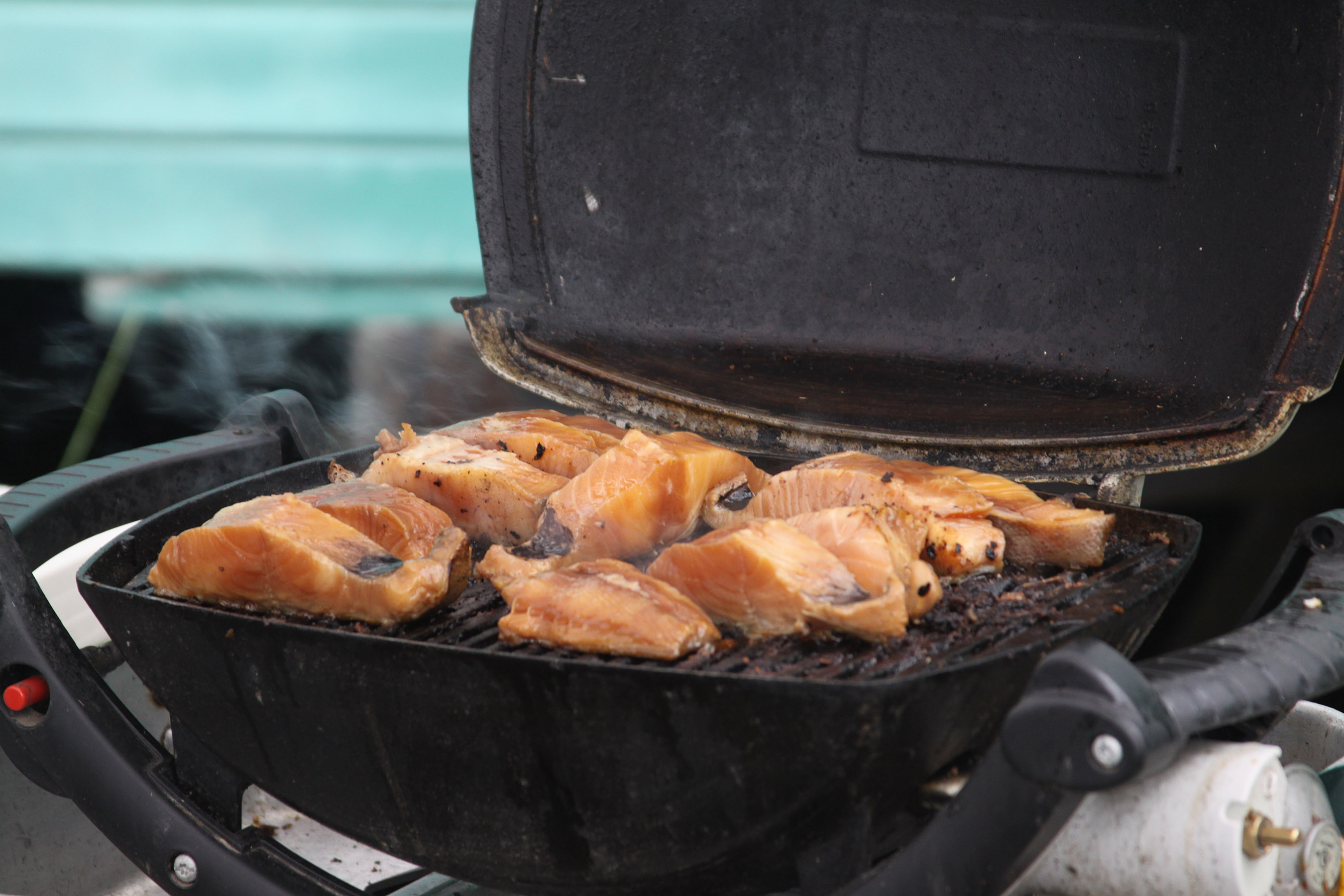 Black cod on the grill from the Alaska Longline Fisherman's Association