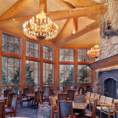 Half Circle Chair Green Swivel Log Ski Lodges- Snowbasin Resort- Earls, Needles And John Paul Lodge
