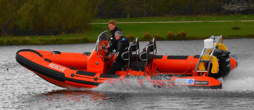 Ribquest 6.3 rescue rib boat