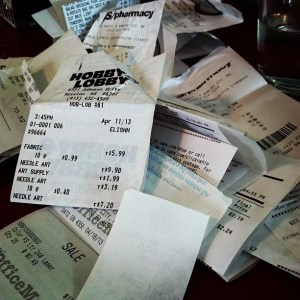 Cash register receipts. Photograph by Hey Paul Studios (Flickr).