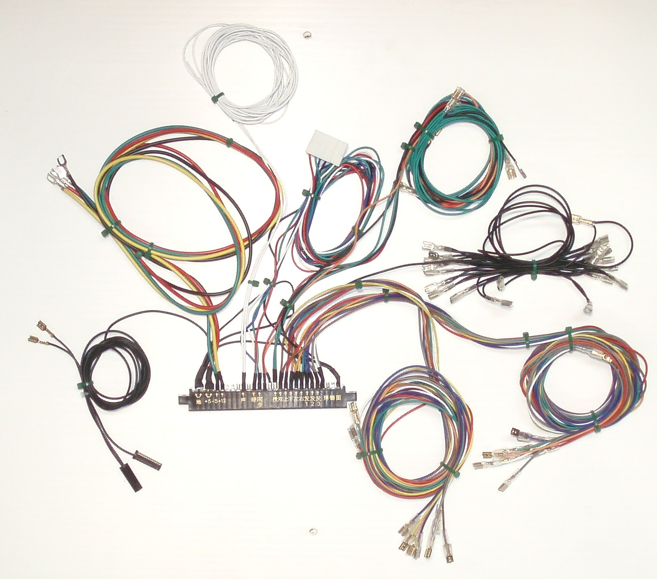 hight resolution of the wiring that connects the game s components monitor power supply control panel speaker etc to the pcb is called a jamma wiring harness