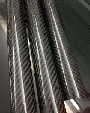 1000mm (39.5″) Long 38mm OD x 34mm ID 3K Carbon Fibre Pole