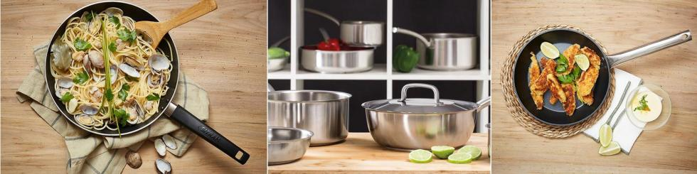 Stainless Steel and Aluminum pans