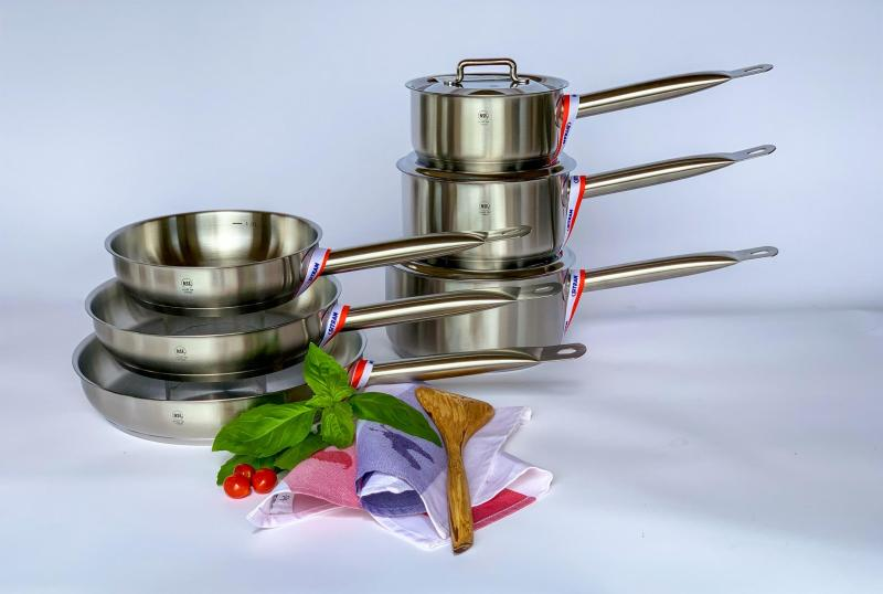 Stainless Steel 9 pc cookware set_ Pro 1X