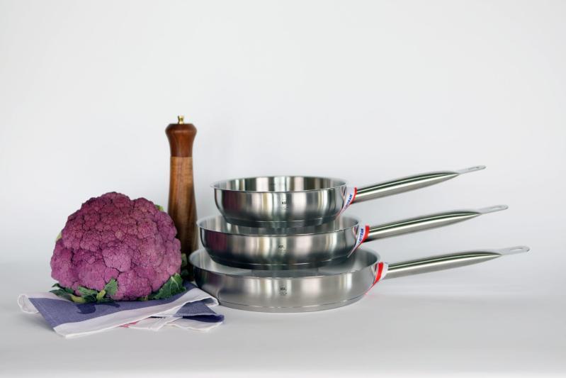 Set of Three s/s fry pans