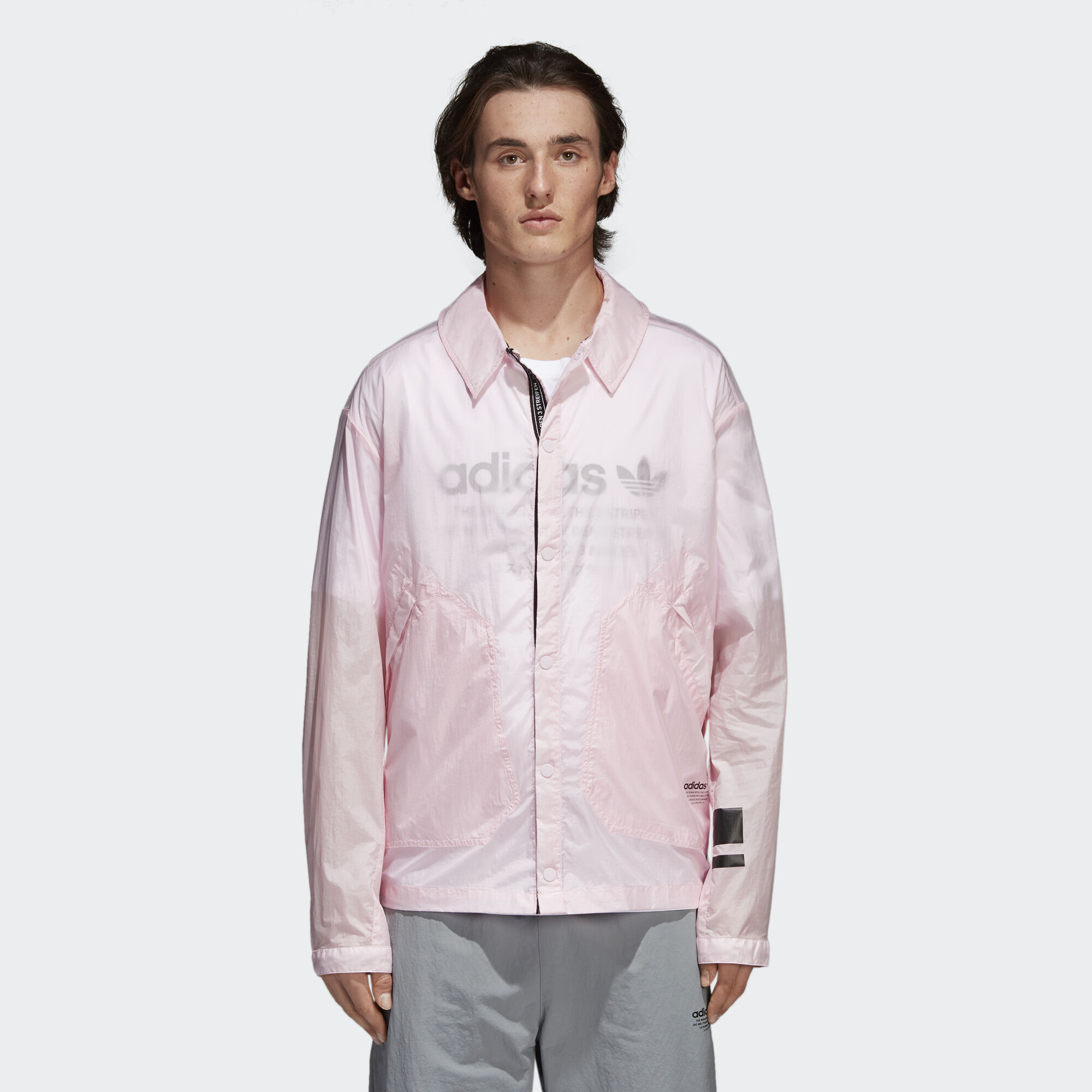 adidas NMD Coach Shirt Jacket - Pink | adidas Asia/Middle East