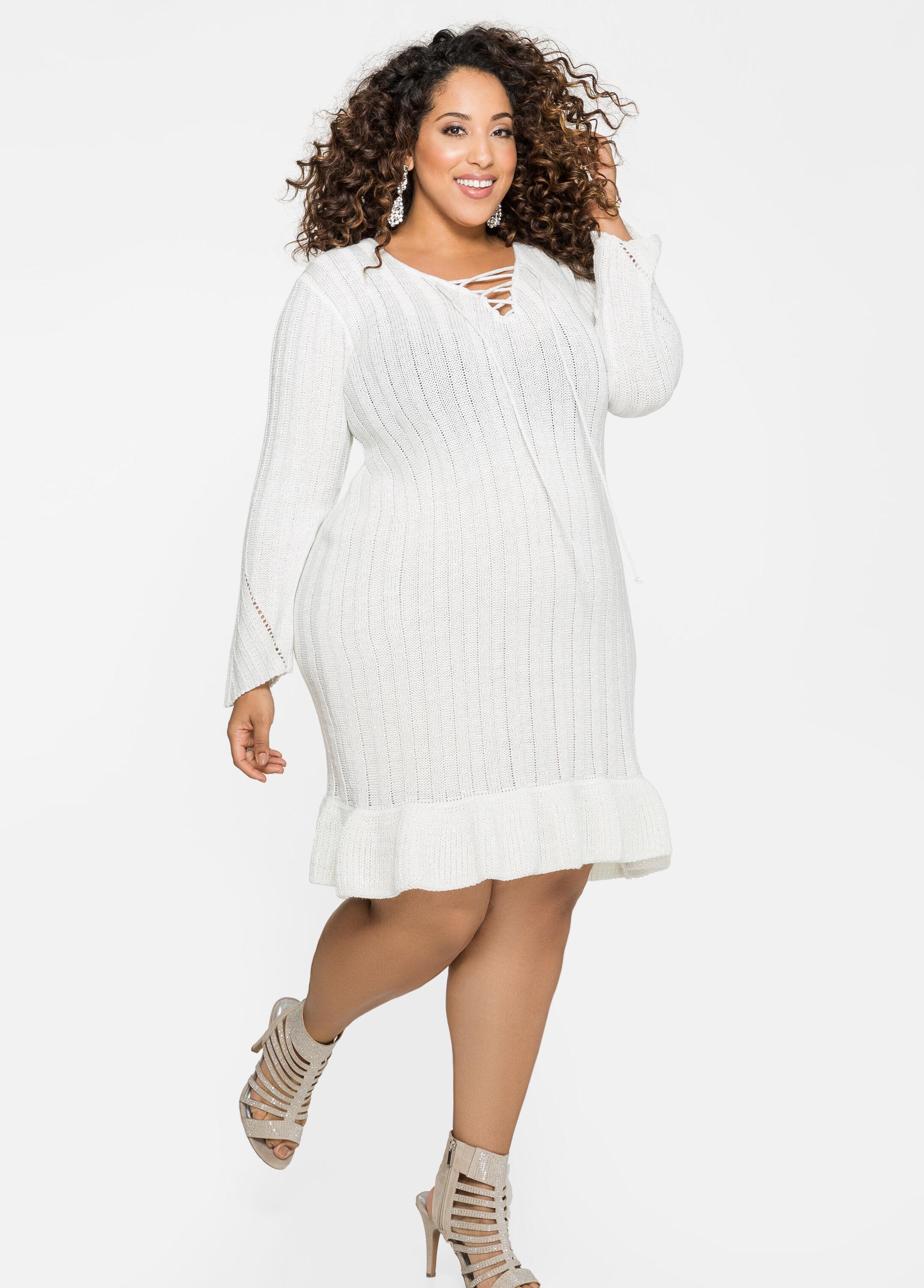 Ashley Stewart Plus Size Sweater Dress