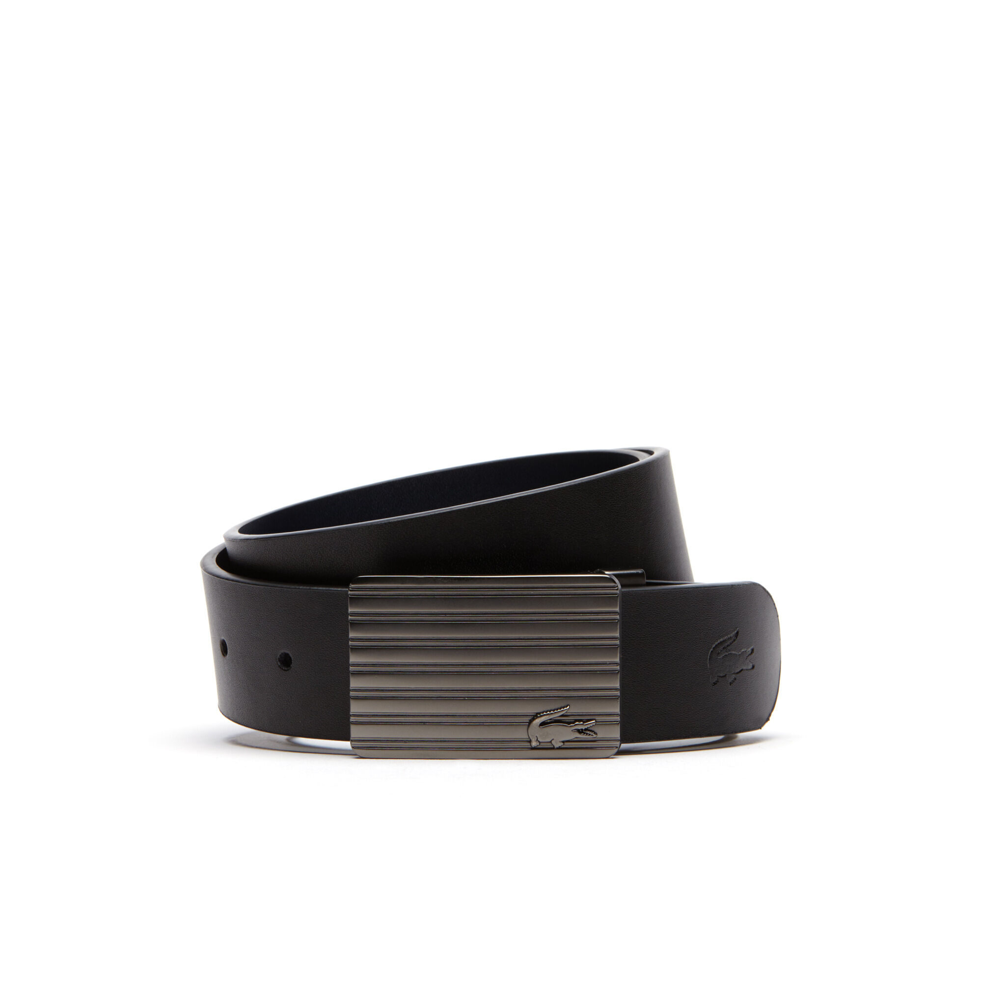 Belt Lacoste Reversible Black Brown Leather