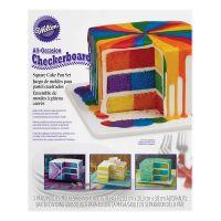 Square Checkerboard Cake Pan Set | Wilton