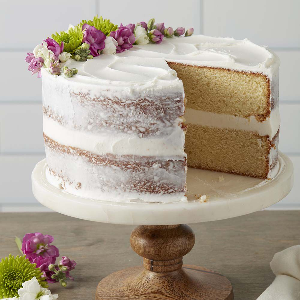 Classy White Butter Cake   Wilton