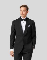 Black slim fit shawl collar tuxedo suit | Charles Tyrwhitt